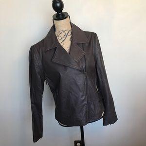 Mythology Leather jacket/vest w/zip off sleeves